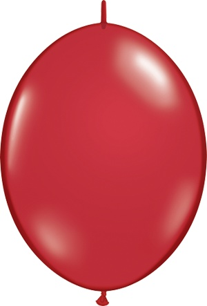 "12"" Ruby Red Quick Link Balloons 1 Dozen Flat"