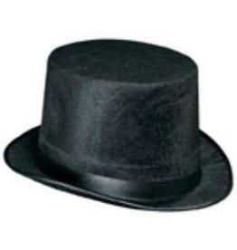 Black Dura-Form Vel-Felt Top Hat