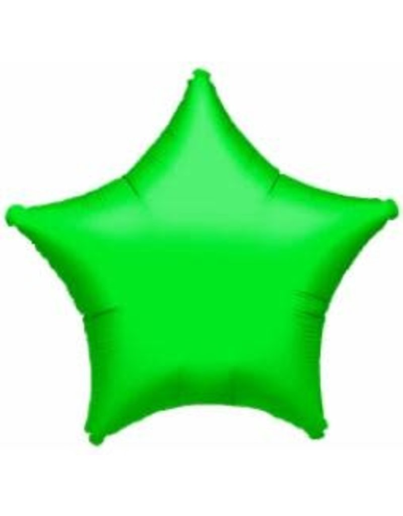 "Green Metallic Star 19"" Mylar Balloon"