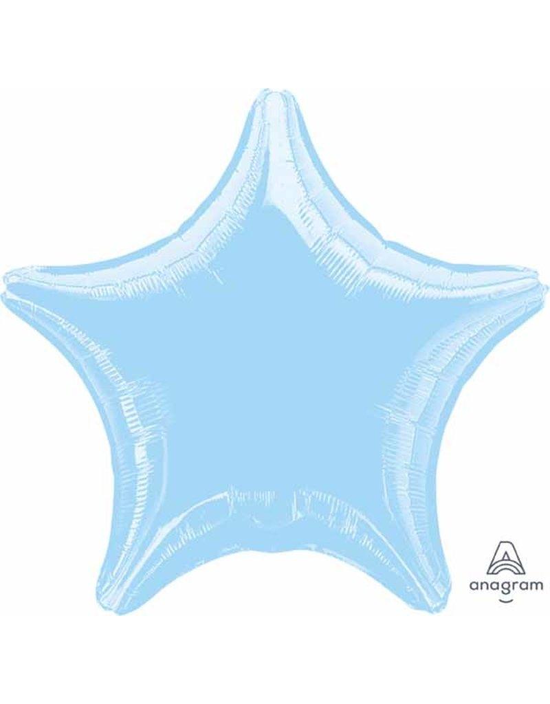 "Pearl Pastel Blue Star 18"" Mylar Balloon"