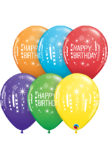 """11"""" Birthday Candles and Starburst Balloons (Without Helium)"""