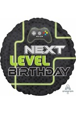 "Level Up Birthday 18"" Mylar Balloon"