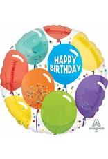 """Birthday Celebration 18"""" Mylar Balloon"""