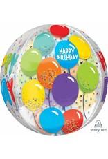 """Birthday Celebration 16"""" Orbz Mylar Balloon"""