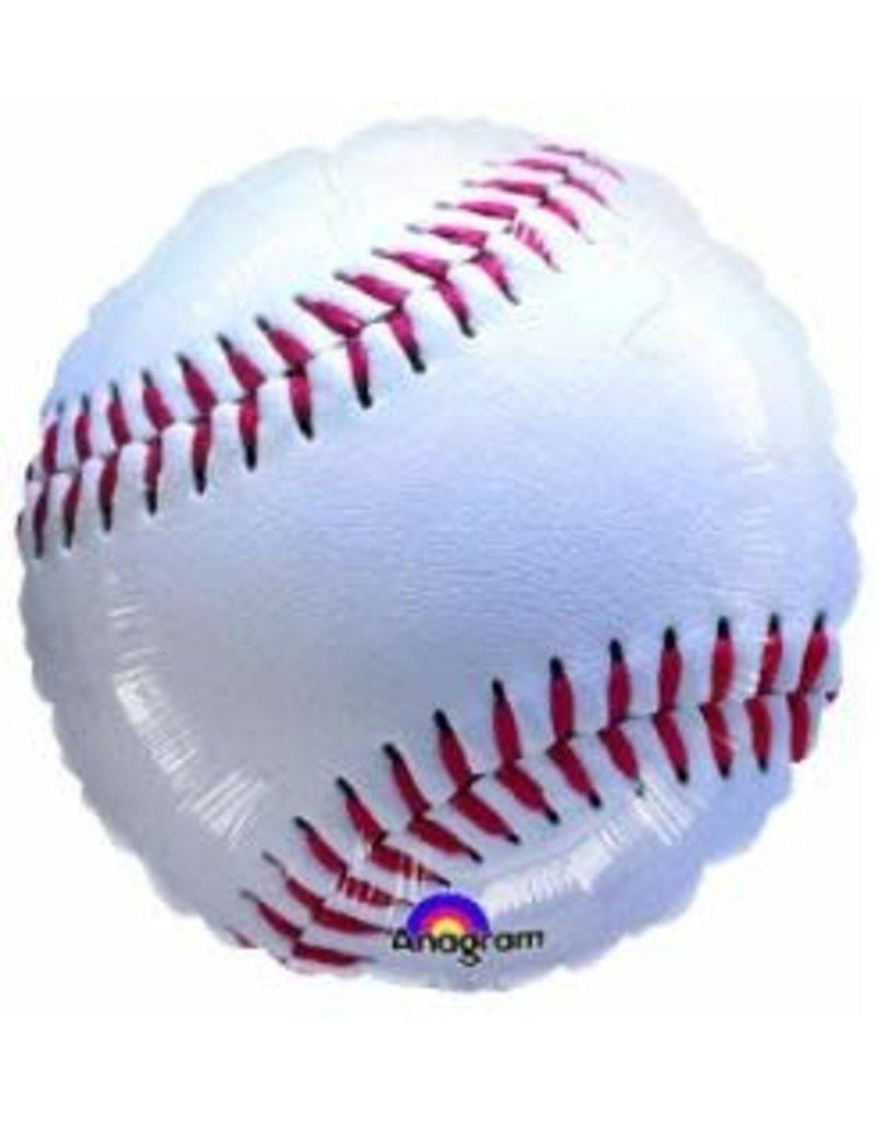 """Baseball 18"""" Mylar Balloon"""