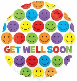 "Get Well Smiles 18"" Mylar Balloon"