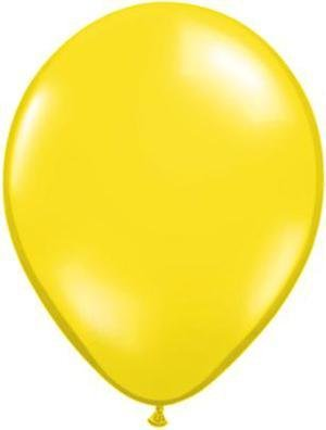 "5"" Balloon Citrine Yellow  1 Dozen Flat"