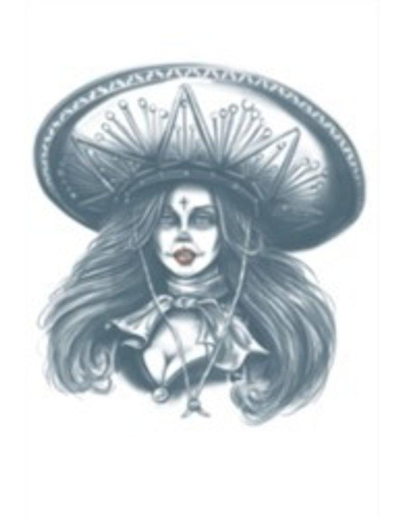 Day of The Dead Temporary Tattoo Bandita