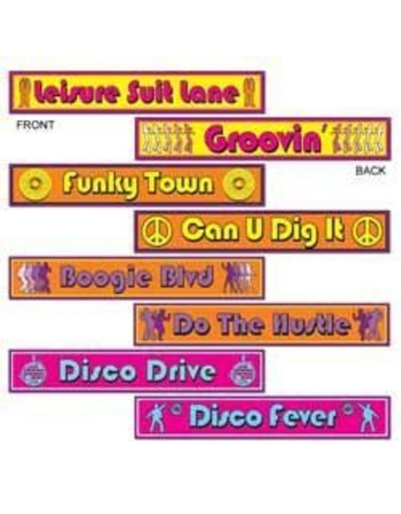 Disco Street Sign Cutouts (4)