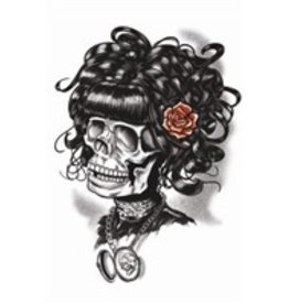 Goth Temporary Tattoo Doris The Death