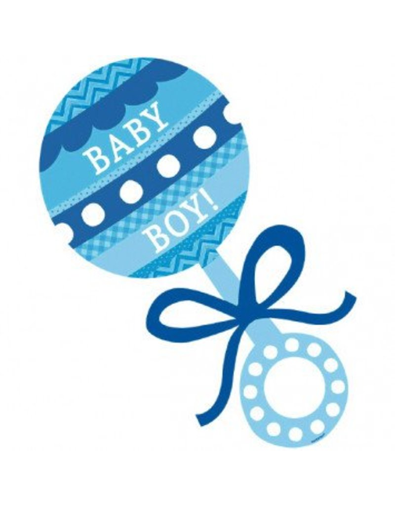 Baby Shower Rattle Cutout Boy