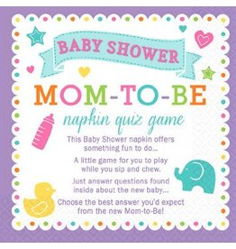 Baby Shower Napkin Quiz Game