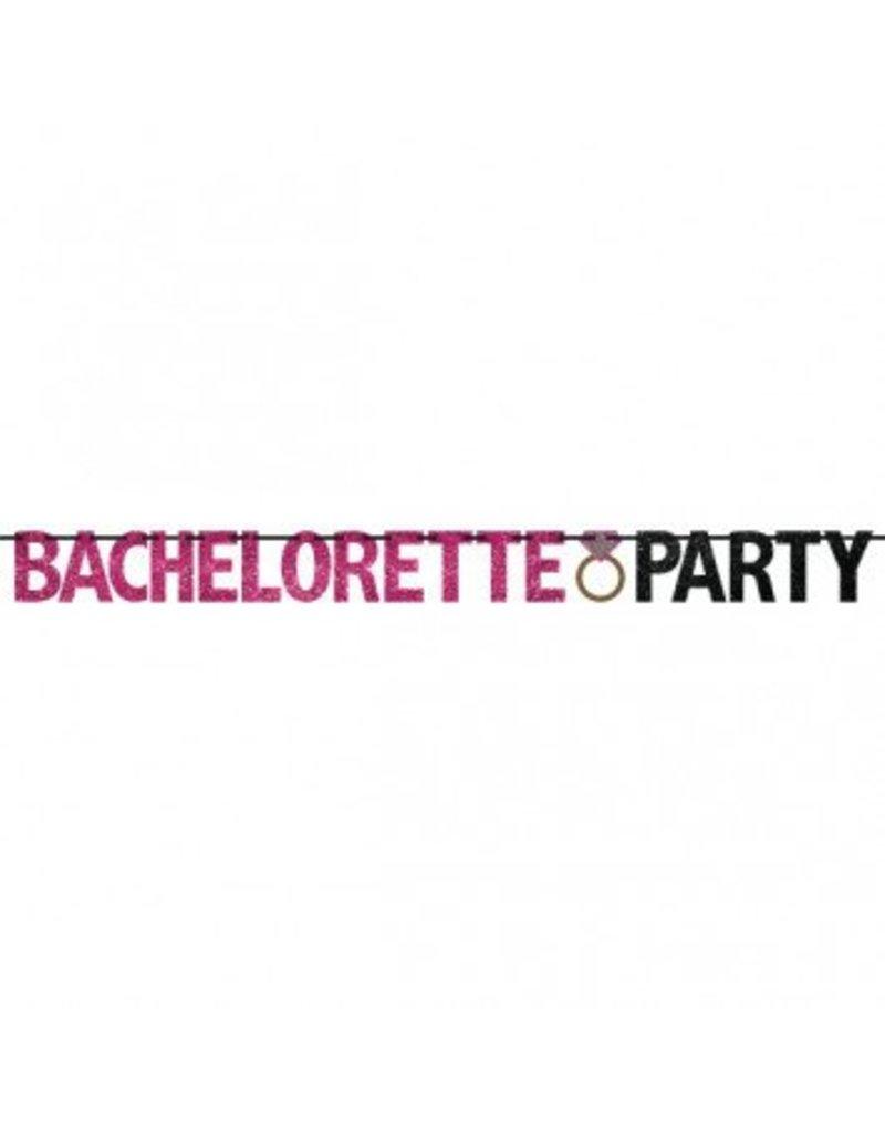 12ft Bachelorette Party Glitter Banner