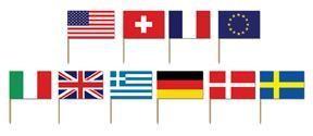 International Flag Pick 50 Pack