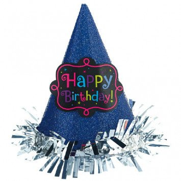 Birthday Chic Mini Glitter Hat