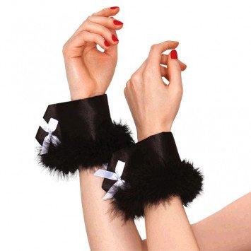 Black Bunny Wrist Cuffs