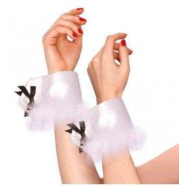 White Bunny Wrist Cuffs