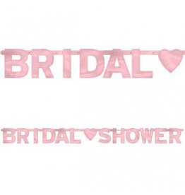 Bridal Shower Banner Pink 6ft
