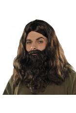 Brown Wig & Beard Set