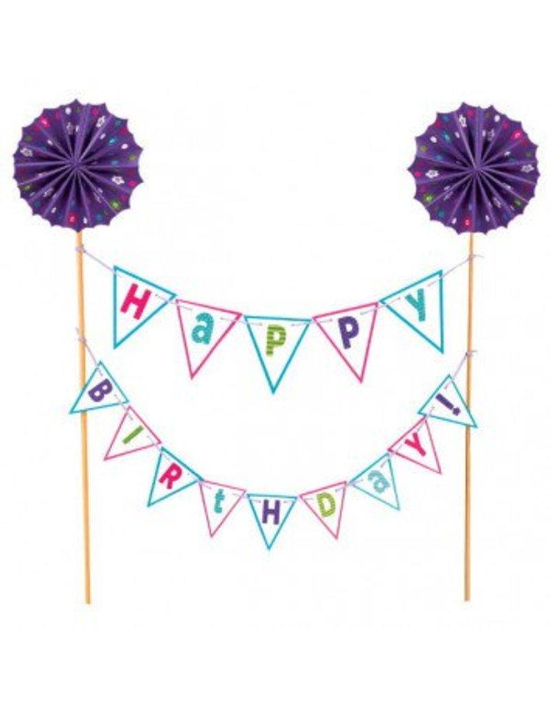 Cake Picks Happy Birthday Brights
