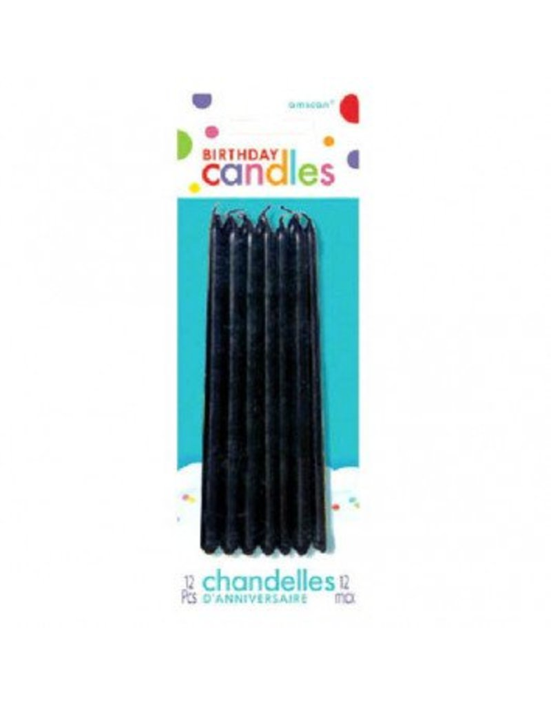 Black Mini Taper Candles