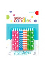 Candles Birthday Neon Assorted