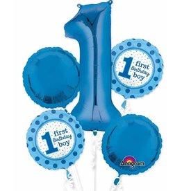 1st Birthday Boy Balloon Bouquet