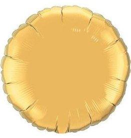 """Gold Round 18"""" Mylar Balloon"""