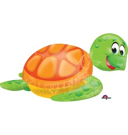"Silly Sea Turtle Supershape 31"" Mylar Balloon"