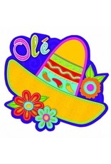 Cutout Sombrero with Flower