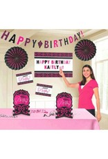 Black & Pink Customizable Room Decorating Kit