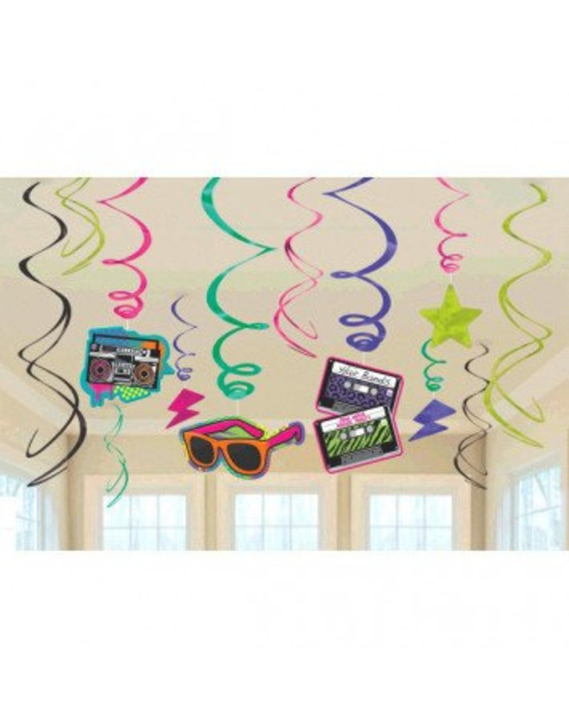 80's Value Pack Swirl Decorations