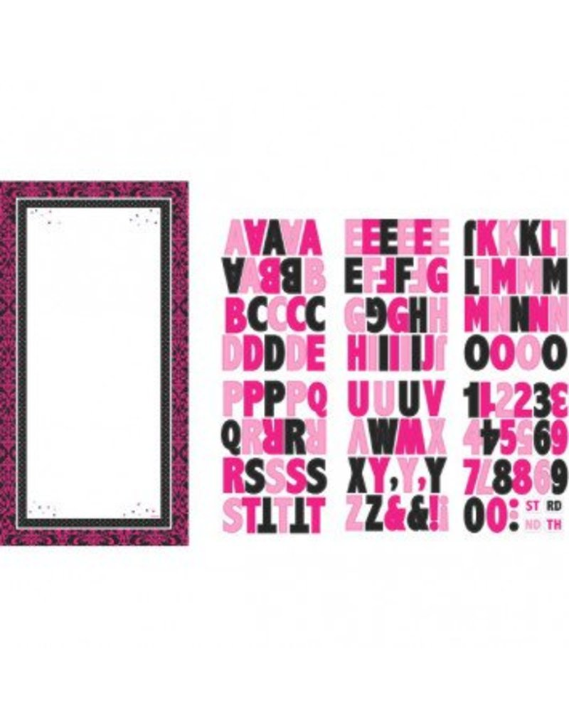 Black & Pink Customizable Door Decorating Kit