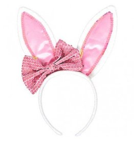 Bunny Ears With Bow Headband