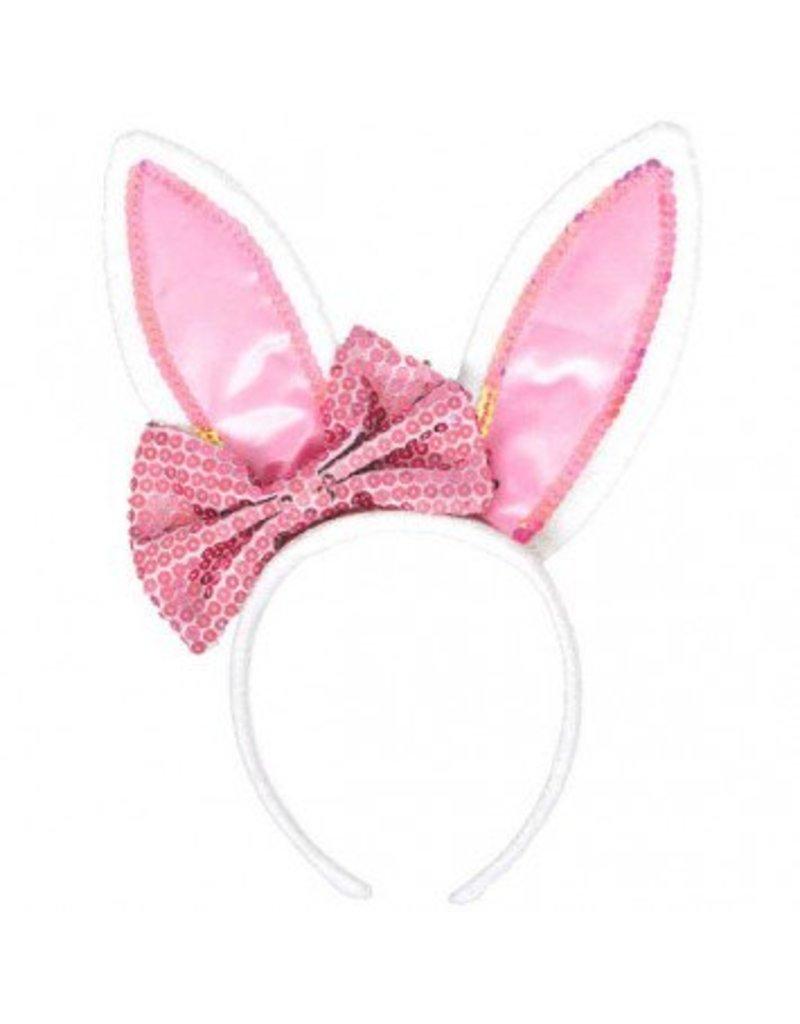 Bunny Ears With Bow Headband