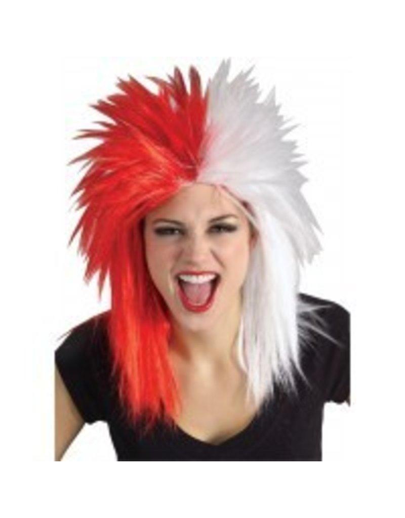 Fanatics Red/White Wig