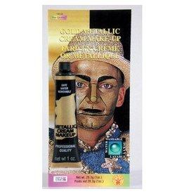 Gold Metallic Cream Makeup Tube