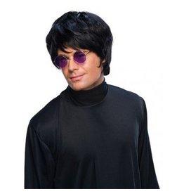 Popstar Black Wig