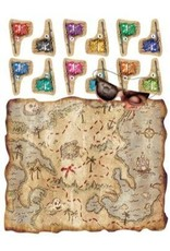 Pirate Treasure Map Party Game 1pk