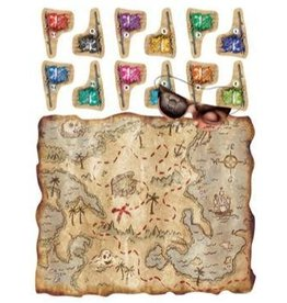 Pirate Treasure Map Party Game 1pk