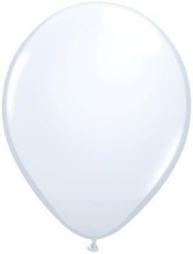 """5"""" Balloon White 1 Dozen Flat"""