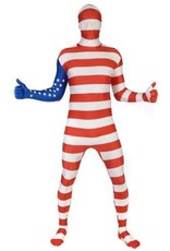 Adult Costume Morphsuit America Flag Large