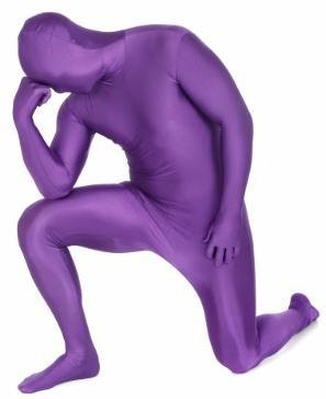 Adult Costume Morphsuit Purple Medium