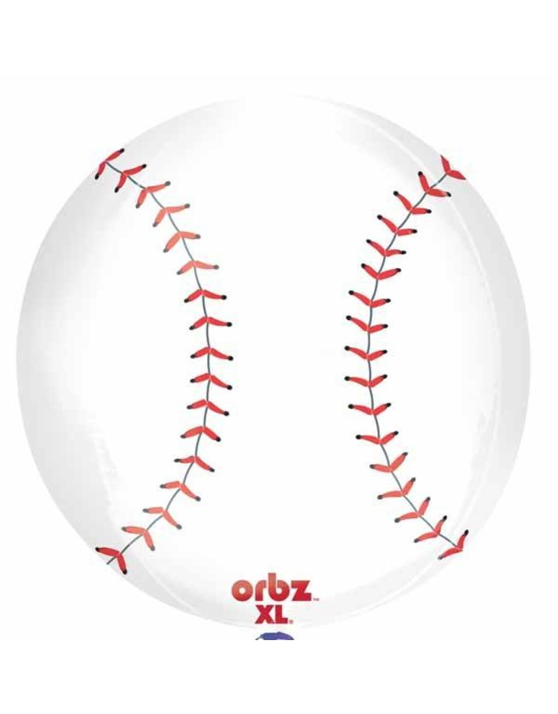 "Baseball Orbz 16"" Bubble  Balloon"