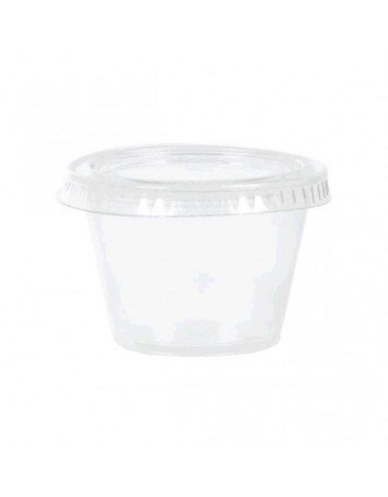 Clear Gelatin Plastic Shot Glasses 2 1/2oz (40)
