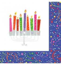 Playful Menorah Luncheon Napkins