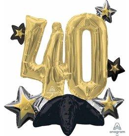 "Celebrate 40th Centerpiece 20"" Air-filled"
