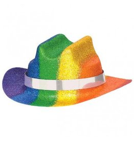 Mini Glitter Cowboy Hat Rainbow