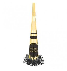 New Year Gold Foil Horn With Fringe