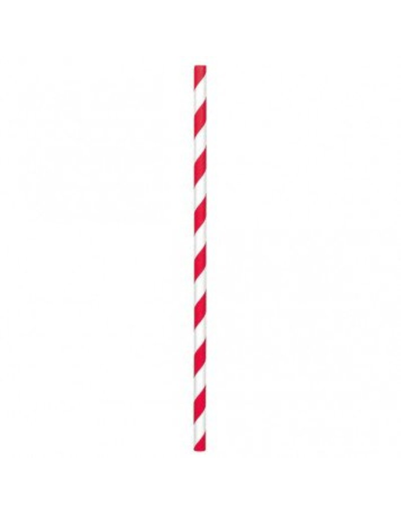 Paper Straws Red Stripes (24)